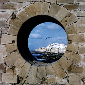 Essaouira through the skala window